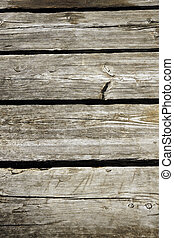 Old wood planks turned grey