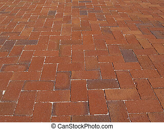 Red Brick Sidewalk - Multi-colored Red brick sidewalk laid...