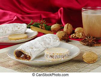 peruano, Pasteles, llenado, caramel-like, crema, llamado,...