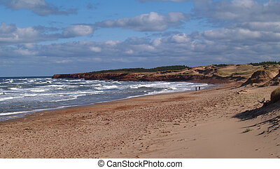 Prince Edward Island Beach - A beach with waves rolling in...