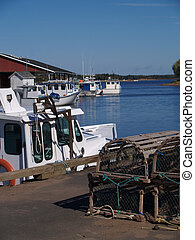 Fishing Boats on Prince Edward Isla - Fishing boats sitting...
