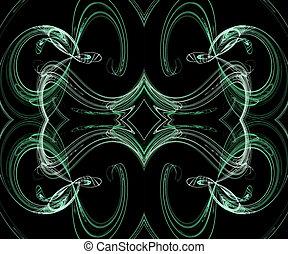 Seamless Green Fractal Design on a