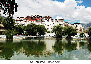 Potala Palace in Lhasa Tibet - Scenery of the famous Potala...