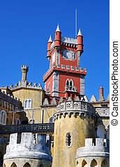 Pena palace in Sintra, Portugal - The Pena National Palace...