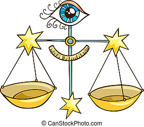 Zodiac libra sign - Illustration of zodiac libra sign