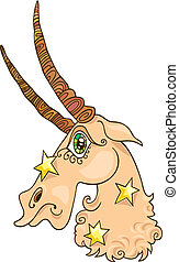 Zodiac capricorn sign - Illustration of zodiac capricorn...