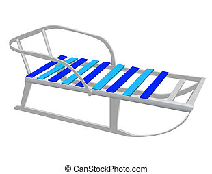 Vector Image of childrens sleds