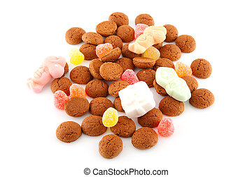 Typical dutch sweets: pepernoten ginger nuts for a...