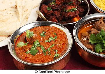 Kashmiri lamb curry - A bowl of Kashmiri lamb curry on a...
