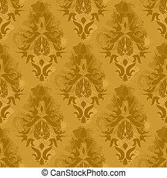 Vintage seamless pattern - Vintage damask wallpaper , vector...
