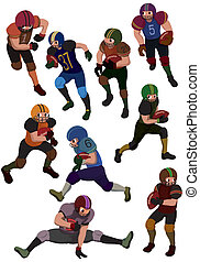 cartoon football icon  - cartoon football icon