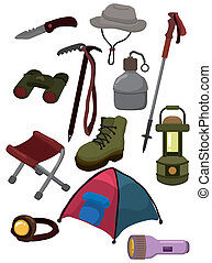 cartoon climb equipment icon