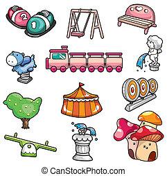 cartoon playground icon