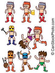 cartoon wrestler icon