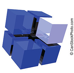 The Cubes - Big cube broken down into smaller cubes