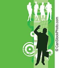 Business People - Illustration of team work Busines people:...
