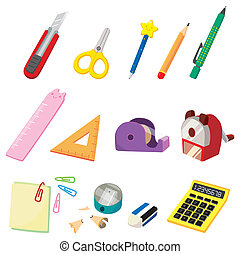 cartoon Stationery icon  - cartoon Stationery icon