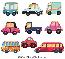 cartoon car icon  - cartoon car icon