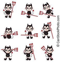 cartoon devil icon  - cartoon devil icon
