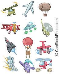 cartoon aircraft icon