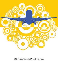 przedimek określony przed rzeczownikami, samolot