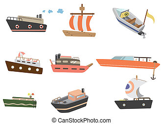 cartoon ship icon  - cartoon ship icon