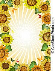 Vivid floral summer frame