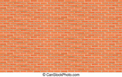 High Resolution Brick Wall 1 - Very high resolution red...