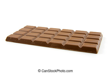 chocolate candy bar isolated on white background