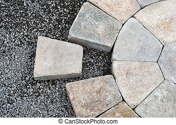 Pavers in a circular pattern - Installing decorative pavers...