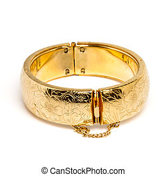 Gold bangle - Vintage gold bangle from low perspective...