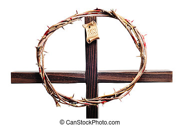 crown of thorns and cross - a representation of the crown of...