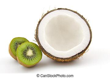 Coconut and kiwi