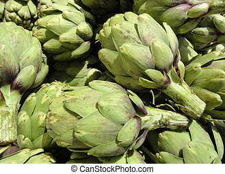 Pile of Artichoke - Close-up of Pile of Artichoke on display...