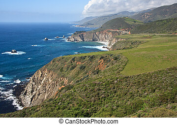 Highway 1 - The Pacific Coast Road - A sunny day on the...