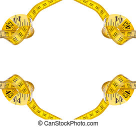 Commitment to a Healthy Lifestyle - Measuring tape with a...