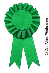 First Prize - A green ribbon is a symbol for success and...