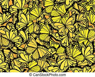 butterflies background - many butterflies background,...
