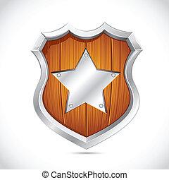Royal Wooden Shield