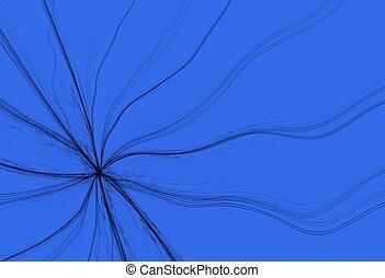 Fractured Fractal on a Blue Backgro