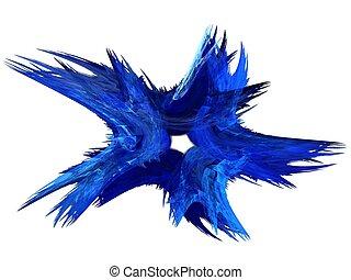 Patriotic Swirl Blue Fractal Star - Patriotic swirling blue...