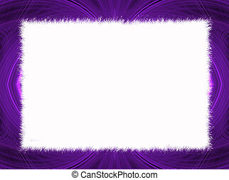 Purple Fractal Border copy space