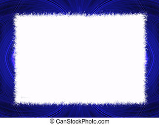 Blue Fractal Border with White Copy