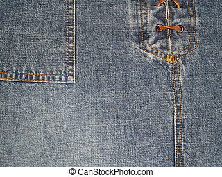 Laced Up Denim With Copy Space