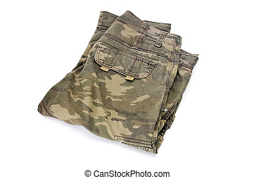 camouflage trousers - folded trousers with a camouflage...