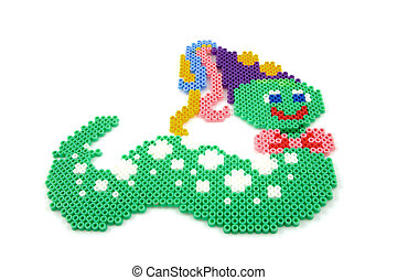 Bead arts in the shap of animal - Bead arts in the shape of...