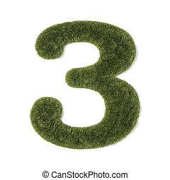 grass font - number 3