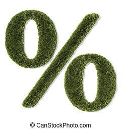 grass font - percentage symbol