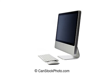 Modern Computer isolated on white - Modern looking all in...