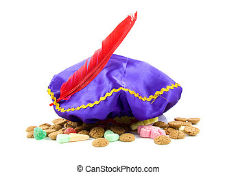 purple hat of Zwarte Piet and ginger nuts - purple hat with...